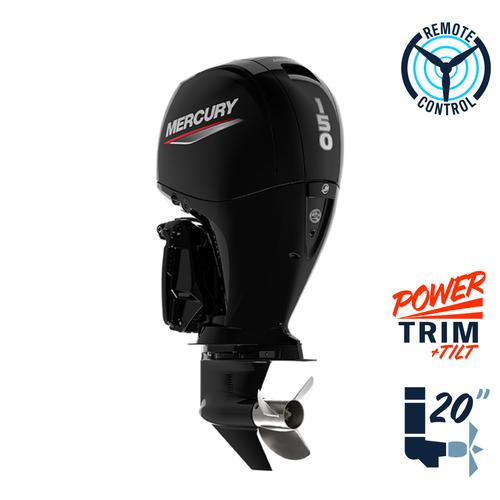 "New Mercury 150L FourStroke  20"" Shaft Power Trim & Tilt Remote Outboard 1150F13ED"