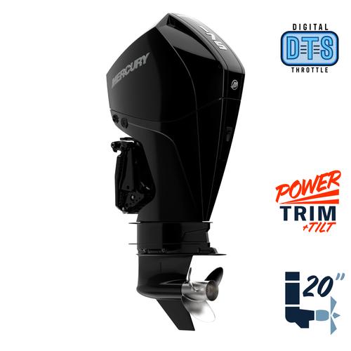 "New Mercury 175L FourStroke DTS 4.8"" 1.85  20"" Shaft Power Trim & Tilt Remote Outboard 11750005A"