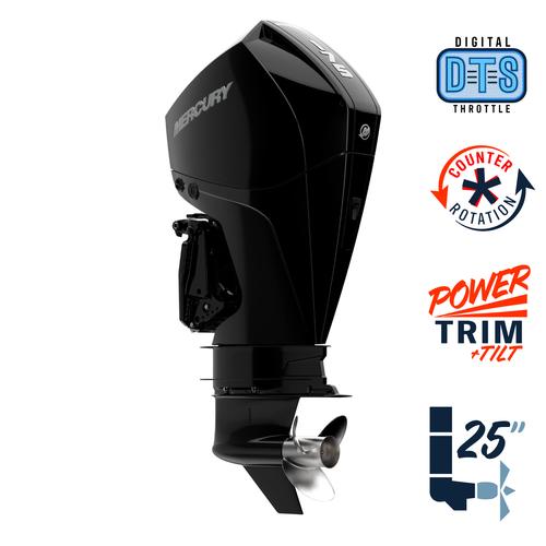"New Mercury 175CXL FourStroke DTS 4.8"" 1.85  25"" Shaft Power Trim & Tilt Remote Outboard 11750007A"