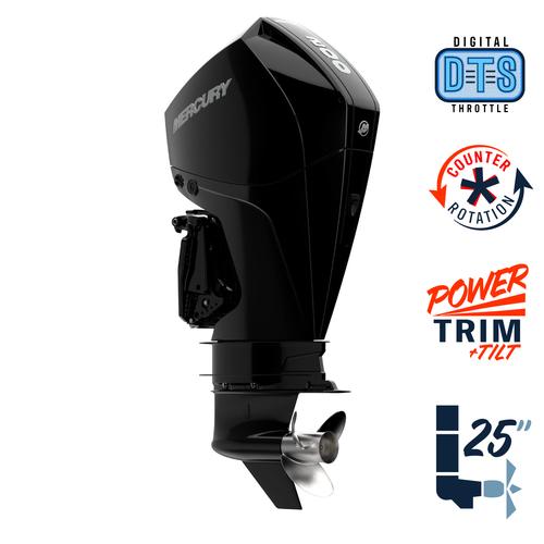 "New Mercury 200CXL FourStroke DTS 4.8"" 1.85  25"" Shaft Power Trim & Tilt Outboard 12000017A"