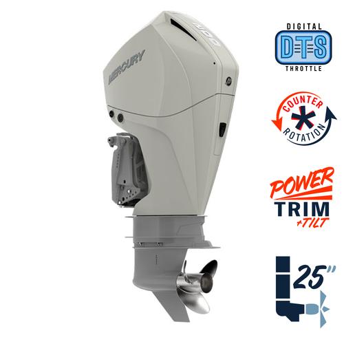 "New Mercury 200CXL FourStroke DTS Warm Fusion White 4.8"" 1.85  25"" Shaft Power Trim & Tilt Outboard 12000019A"