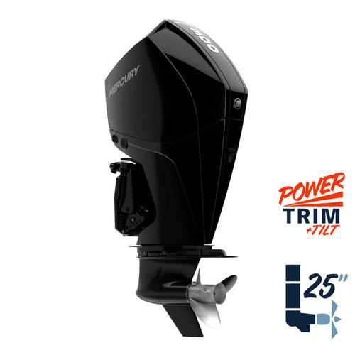 "New Mercury 300XL FourStroke 5.44"" 1.75  25"" Shaft Power Trim & Tilt Remote Outboard 13000010A"