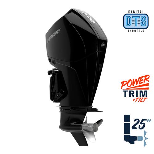 "New Mercury 300XL FourStroke DTS 5.44"" 1.75  25"" Shaft Power Trim & Tilt Outboard 13000014A"