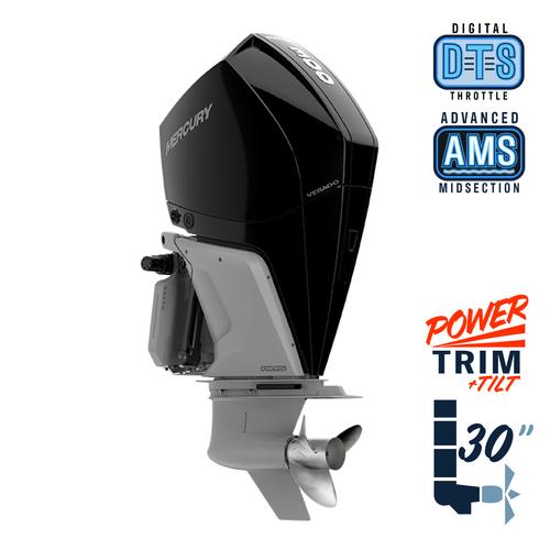 "New Mercury 300XXL Verado 5.44"" 1.75 Cambered Skeg  30"" Shaft Power Trim & Tilt Outboard 13000107A"