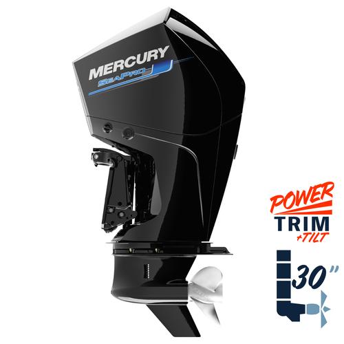 "New Mercury 225XXL SeaPro 5.44"" 1.75  30"" Shaft Power Trim & Tilt Remote Outboard 12250043A"