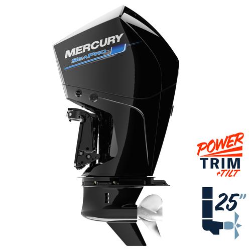 "New Mercury 250XL SeaPro 5.44"" 1.75  25"" Shaft Power Trim & Tilt Remote Outboard 12500039A"
