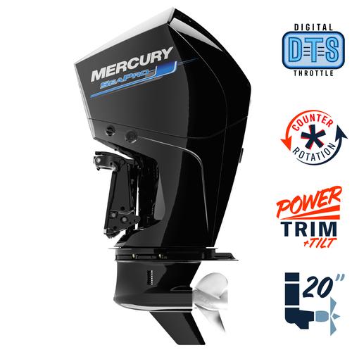 "New Mercury 250CL SeaPro DTS 5.44"" 1.75  20"" Shaft Power Trim & Tilt Outboard 12500038A"