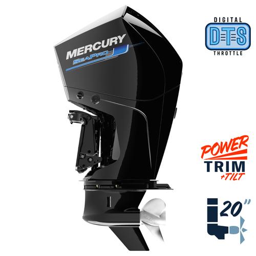 "New Mercury 300L SeaPro DTS 5.44"" 1.75  20"" Shaft Power Trim & Tilt Outboard 13000025A"
