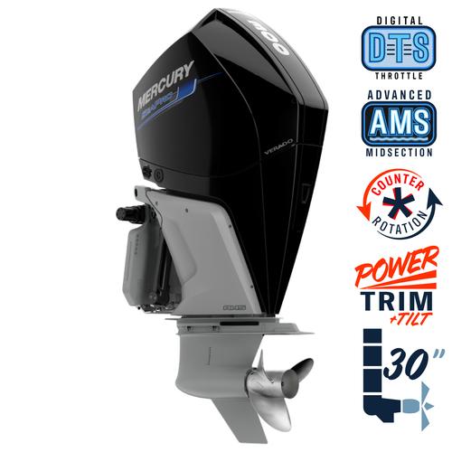 "New Mercury 300CXXL SeaPro AMS 5.44"" 1.75  30"" Shaft Power Trim & Tilt Outboard 13000094A"