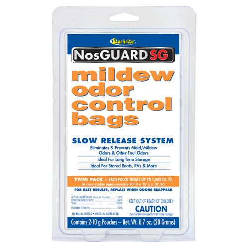 Starbrite Mildew Mold Odor Control Bags 2 pack 10g Marine RV Home STA 89950