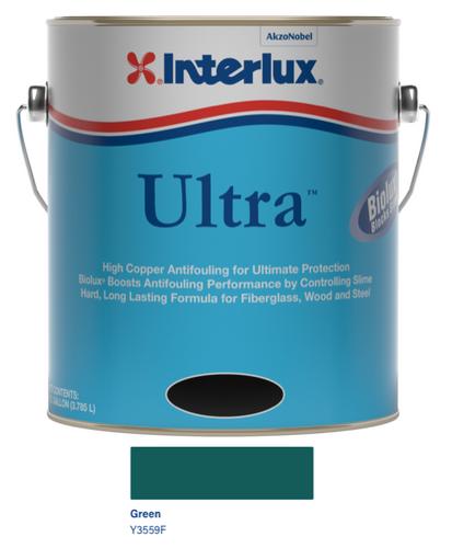 Interlux Ultra Antifouling Bottom Paint with Biolux- Green- Gallon 3559/F1