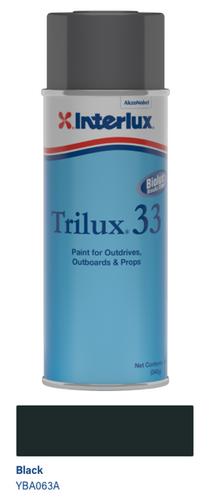 Interlux Trilux 33 Aerosol Aluminum Paint- Black- 12oz YBA063A/16