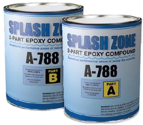 Pettit Splash Zone Epoxy- Parts A & B- 2 Gallons Kit 84788/8478916