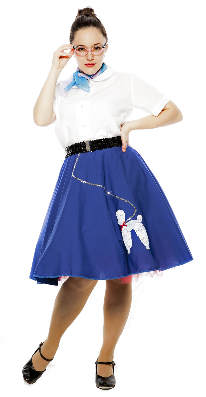 Hey Viv Size Teen//Adult Small 50s Felt Poodle Skirt in Retro Colors