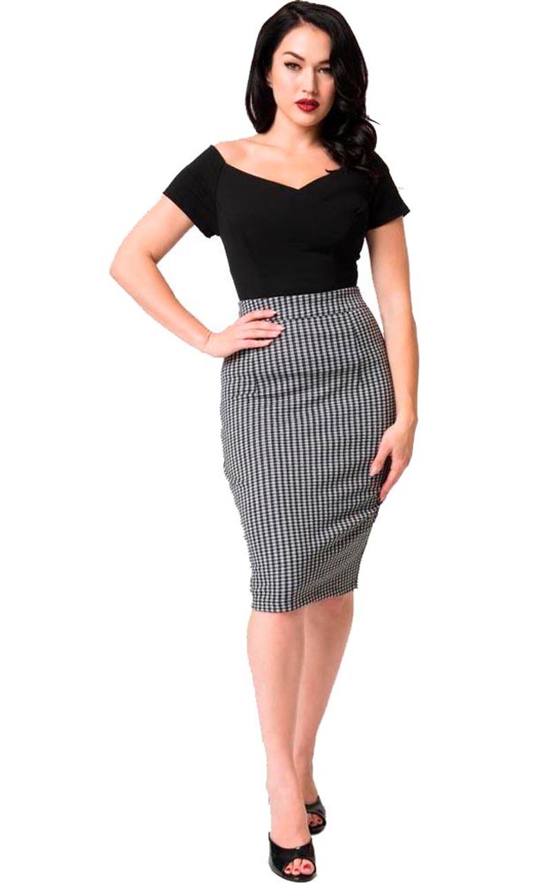 a831cf624 Tartan Plaid Pencil Skirt - Fitted, knee length skirt by Voodoo ...