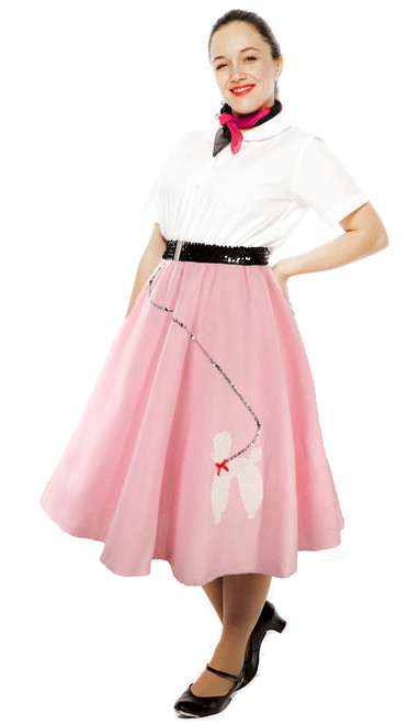 c23e212d9a2a6 Hey Viv 50s Felt Poodle Circle Skirt - Large/XL Plus Size