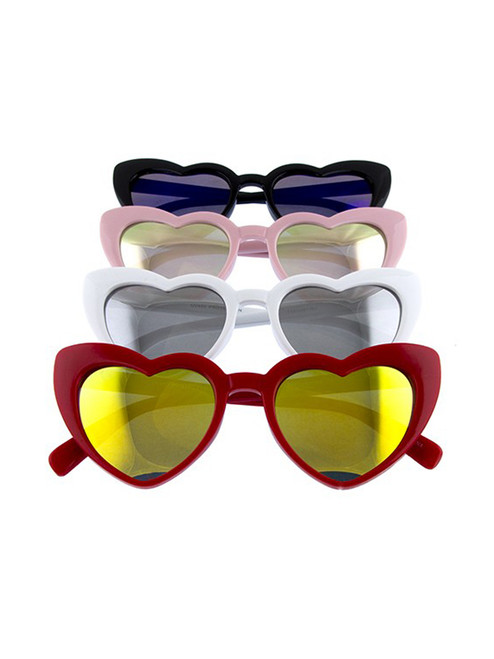 ad55851536179 Sweet 80s Heart Sunglasses - Retro Style Shades ...