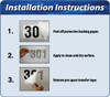 Vinyl Letters Installation Instructions