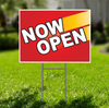 Now Open for Self Storage Yard Sign  -  Dash In