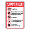 Dumpster Rules Sign