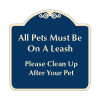 """Pets Must Be on Leash Sign 18"""" x 18"""""""