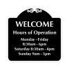 """RV Park Office Hours Sign 18"""" x 18"""""""