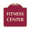 "Fitness Center Sign 18"" x 18"""