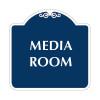 """Media Room Sign 18"""" x 18"""""""