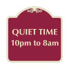 """Quiet Time Hours Sign 18"""" x 18"""""""