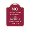 "No Trespassing Sign 18"" x 24"""