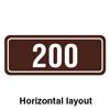 RV Park Site Number Plaque Horizontal Layout