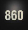 RV Park Site Reflective Number Decals