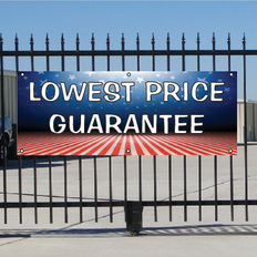 Lowest Price Guarantee Banner - Patriotic