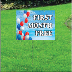 Free First Month Sign for Self Storage - Balloon Sky