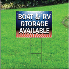 Boat & RV Storage Self Storage Sign - Patriotic