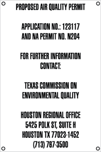 Air Quality Permit Sign - English