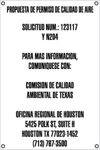 Air Quality Permit Sign - Spanish