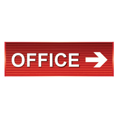 Office Sign right arrow