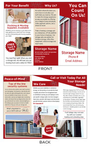 Self Storage Tri-fold brochures
