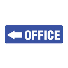 Office Arrow Sign point left
