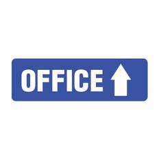 Office Arrow Sign point straight