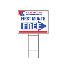 Devon Self Storage First Month Free Yard Sign