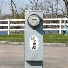 RV Park Site Number Logo Decals