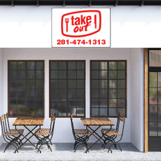 Take out restaurant banner