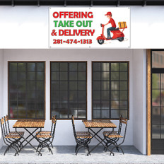 Take out and Delivery Restaurant Banners