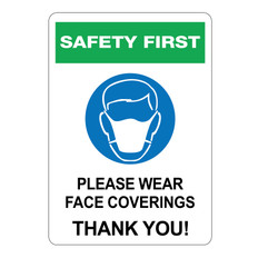 Please Wear Face Coverings Signs