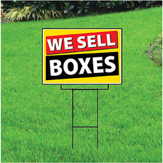 We Sell Boxes Sign - Festive