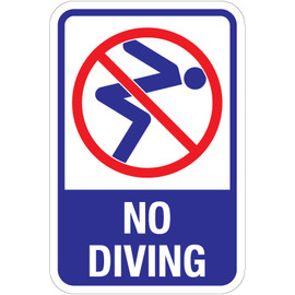 "No Diving Sign - 12"" x 18"""