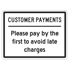 "Customer Payments Sign 9"" x 12"""