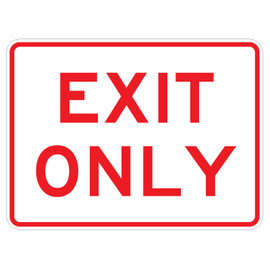 "Exit Only Sign - 18"" x 24"""